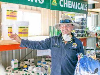 Mouse Bait in High Demand Greg Marsden from Beaudesert Rural Supplies (CRT).